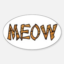 Kitty Cat Oval Decal