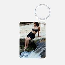 Hispanic Woman Waterfall Keychains