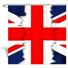 Union Jack Ripped St.Georges Cross Shower Curtain
