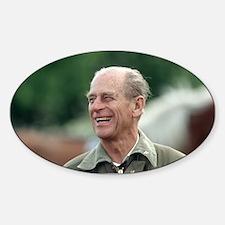 HRH Prince Philip Sticker (Oval)