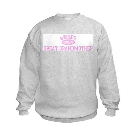 Cutest Great Grandmother Kids Sweatshirt