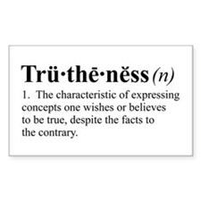 Truthiness Rectangle Decal