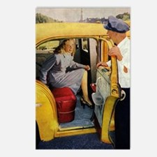Vintage Taxi Cab Postcards (Package of 8)