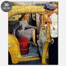 Vintage Taxi Cab Puzzle