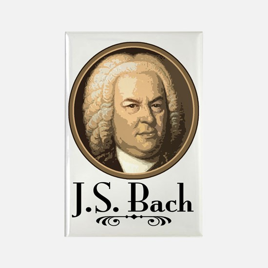 J.S. Bach Rectangle Magnet