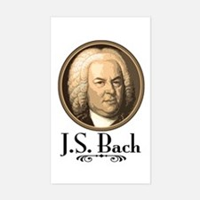 J.S. Bach Rectangle Decal