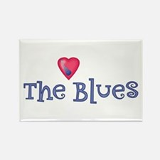 Heart The Blues Rectangle Magnet