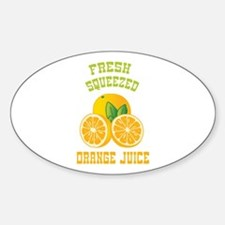 Fresh Squeezed Orange Juice Decal