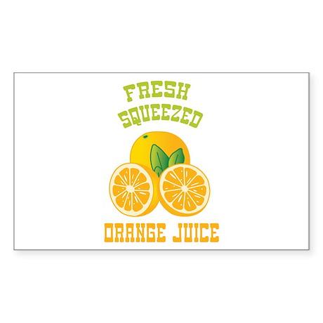 Fresh Squeezed Orange Juice Sticker