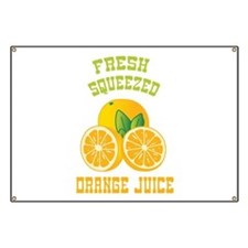 Fresh Squeezed Orange Juice Banner