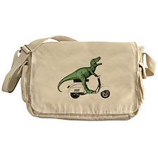 T-Rex Rides Scooter Messenger Bag