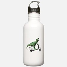 T-Rex Rides Scooter Water Bottle