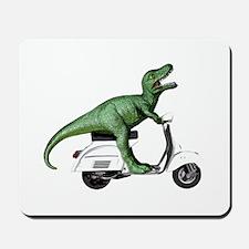 T-Rex Rides Scooter Mousepad