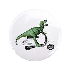 "T-Rex Rides Scooter 3.5"" Button"