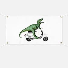 T-Rex Rides Scooter Banner