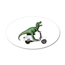 T-Rex Rides Scooter Wall Decal