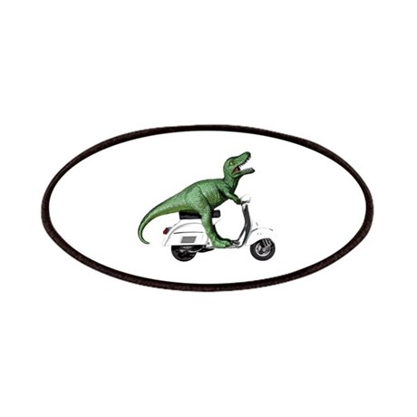 T-Rex Rides Scooter Patches