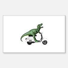 T-Rex Rides Scooter Decal