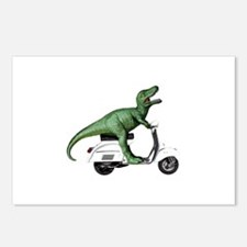 T-Rex Rides Scooter Postcards (Package of 8)