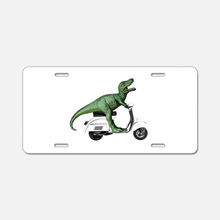 T-Rex Rides Scooter Aluminum License Plate