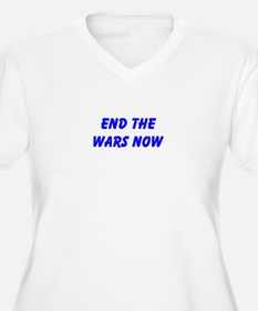 End the Wars Now Plus Size T-Shirt