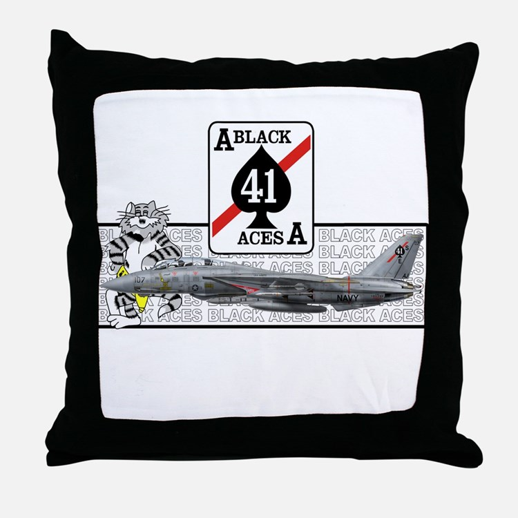 VF-41 Black Aces Throw Pillow