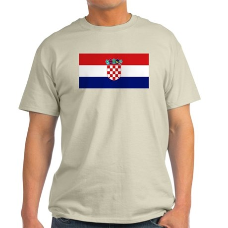 Flag of Croatia Ash Grey T-Shirt