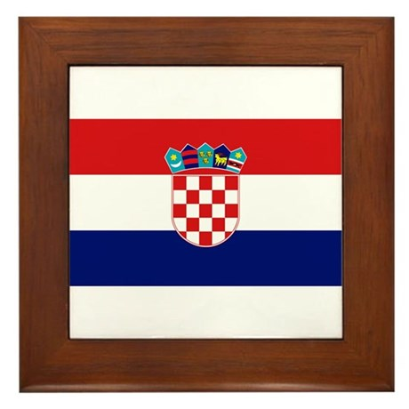 Flag of Croatia Framed Tile