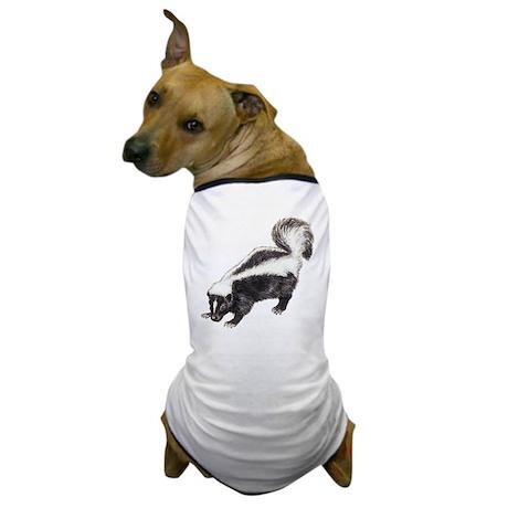 Skunk drawing Dog T-Shirt
