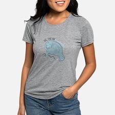 Cute Manatee Womens Tri-blend T-Shirt