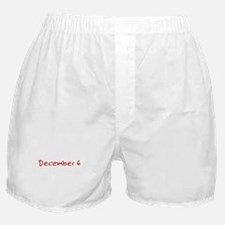 """December 6"" printed on a Boxer Shorts"