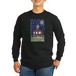 New Orleans Themed Long Sleeve Dark T-Shirt