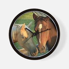Horse pals Wall Clock