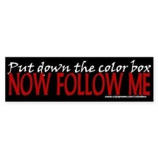 Color Box Bumper Bumper Sticker