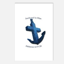 Anchored In Him Postcards (Package of 8)