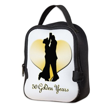 50th Wedding Anniversary Neoprene Lunch Bag