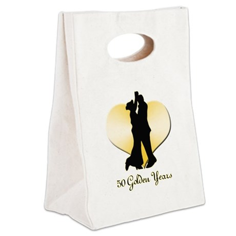 50th Wedding Anniversary Canvas Lunch Tote