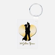 50th Wedding Anniversary Keychains