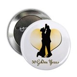 50th wedding anniversary Buttons
