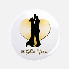"50th Wedding Anniversary 3.5"" Button"