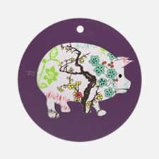 Chinese Year of the Pig Ornament (Round)