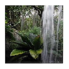 Tropical Waterfall Tile Coaster