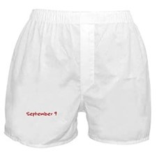 """""""September 9"""" printed on a Boxer Shorts"""
