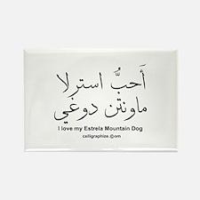 Estrela Mountain Dog Arabic Rectangle Magnet (10 p