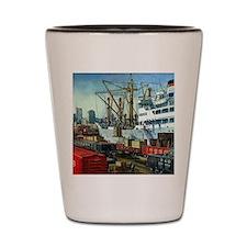 Vintage Cargo Ships Shot Glass
