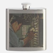 Vintage Business Electrician Flask