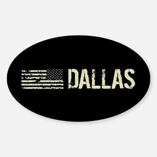 Black Flag: Dallas Sticker (Oval)