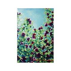 Rose No. 8 Floral Art Rectangle Magnet