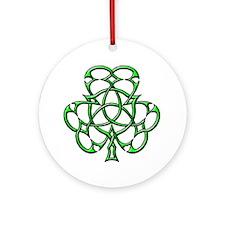 Celtic Shamrock Triquetra Round Ornament