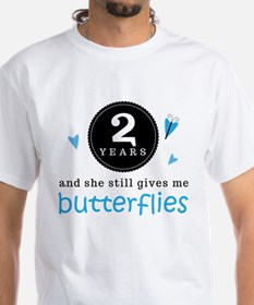 2 Year Anniversary Butterfly T-Shirt